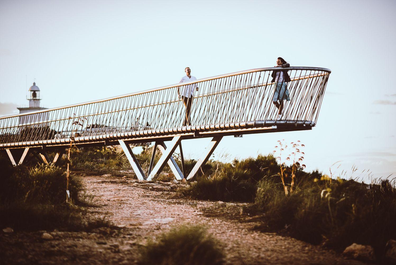 Fotos de pareja en el Faro de Santa Pola